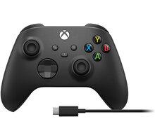 Xbox Series Bezdrátový ovladač, černý + USB-C kabel - 1V8-00002