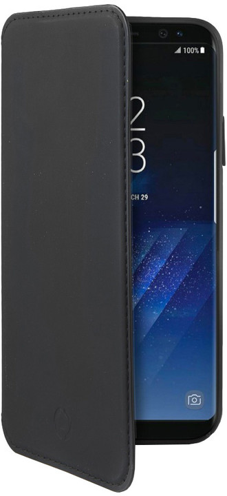 CELLY Prestige pouzdro typu kniha pro Samsung Galaxy S8 Plus, PU kůže, černé