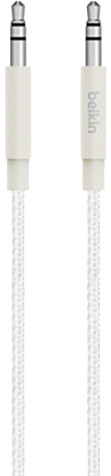 Belkin MIXIT 3,5mm Jack M/M Metallic kabel, 1,2 m, bílá