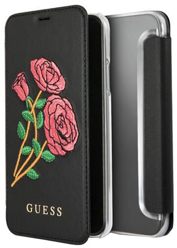 Guess Flower Desire Book Pouzdro Black pro iPhone X