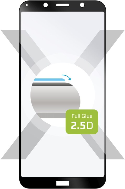 FIXED ochranné tvrzené sklo Full-Cover pro Xiaomi Redmi 7A, lepení přes celý displej, černá