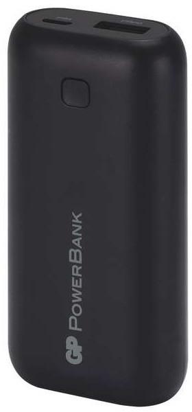 GP RC05AB, záložní zdroj 5000 mAh, USB, integrovaný USB kabel, černá