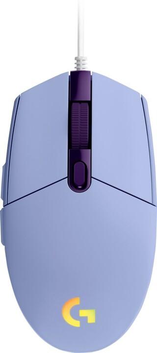Logitech G102 Lightsync, fialová
