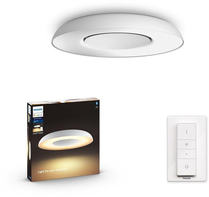 Philips Still Stropní svídidlo LED, Hue, Bluetooth, 32W, 2400lm 2200-6500K, bílá