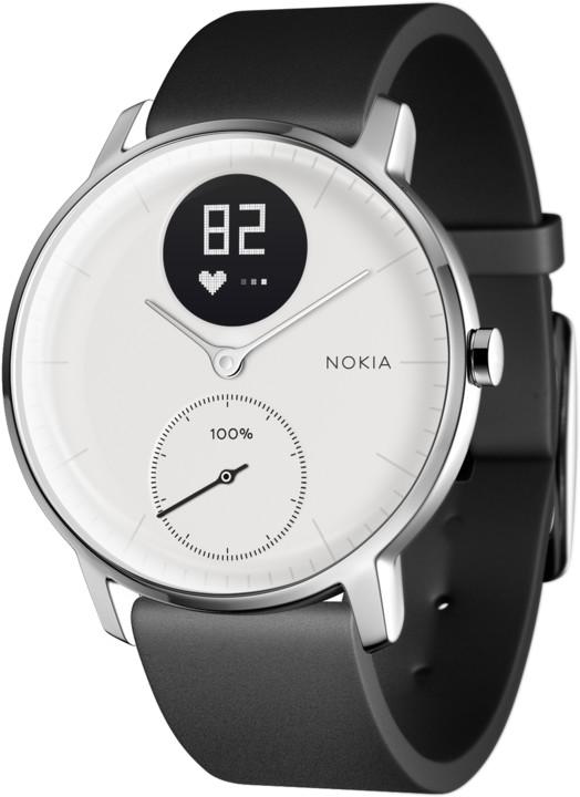 Nokia chytré hodinky Steel HR (36mm) - bílá