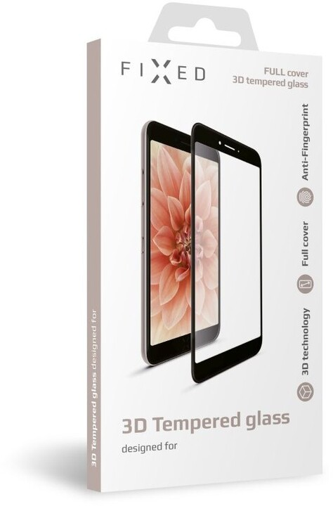 FIXED ochranné tvrzené sklo 3D Full-Cover pro Samsung Galaxy A71, s lepením přes celý displej, černá