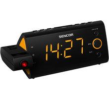 Sencor SRC 330 OR, radiobudík s projekcí  + Nakupte alespoň za 2 000 Kč a získejte 100Kč slevový kód na LEGO (kombinovatelný, max. 1ks/objednávku)