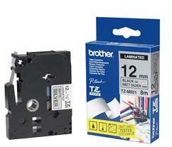 Brother TZE-N221, bílá / černá, 9mm