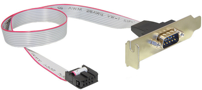 Delock Low Profile Slot Bracket > 1 x Serial Pin layout: 1:1