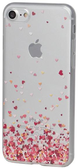 EPICO pružný plastový kryt pro iPhone 7 FLYING HEART
