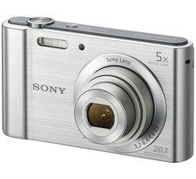 Sony Cybershot DSC-W800, stříbrná - DSCW800S.CE3