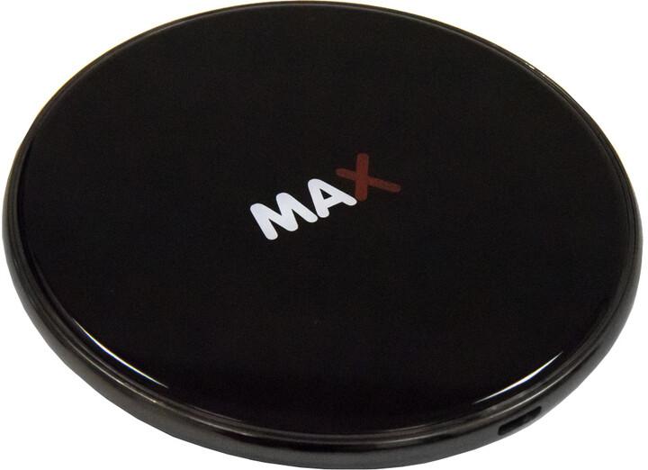 MAX bezdrátová nabíječka 7.5W/10W/15W, černá