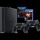 PlayStation 4 Slim, 1TB, černá + 2x DS4 + GT Sport + Uncharted Lost Legacy