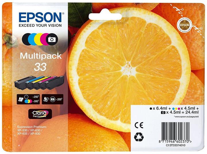 Epson C13T33374011, 33 claria multipack