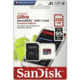 SanDisk Micro SDXC Ultra Android 256GB 95MB/s A1 UHS-I + SD adaptér