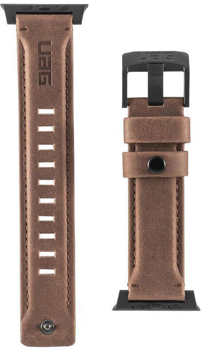 UAG Leather Strap - Apple Watch 44/42 mm, hnědá