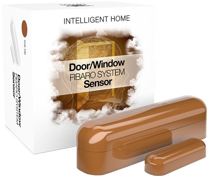 Fibaro Bateriový senzor na okna a dveře, světle hnědá