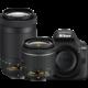 Nikon D3400 + AF-P 18-55 VR + 70-300 VR, černá  + Přenosný reproduktor JBL Clip 2, šedá (v ceně 999 Kč)