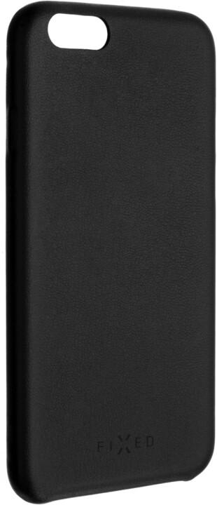 FIXED Zadní kryt Tale pro Apple iPhone SE/5/5s, PU kůže, černý