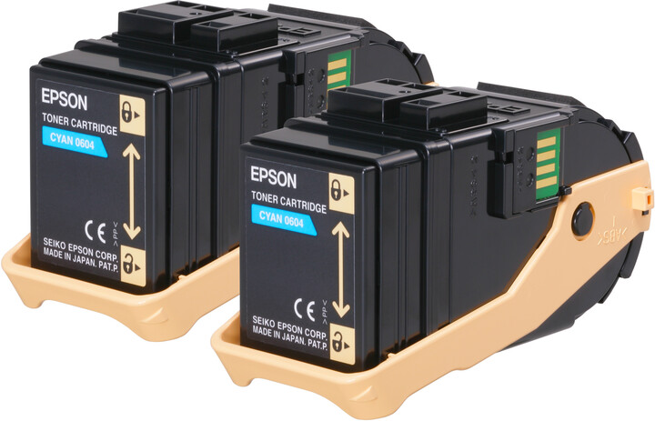 Epson C13S050608, cyan, double pack