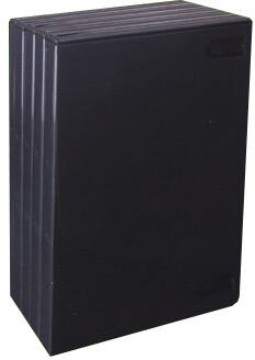 CD Box na 1 DVD černá, 14mm, 5ks
