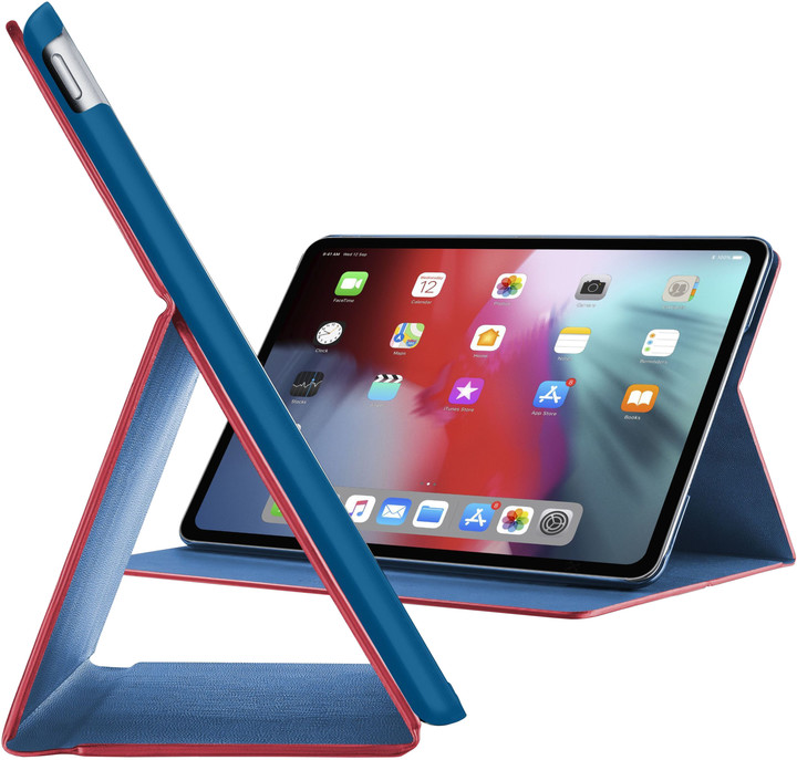 """CellularLine FOLIO pouzdro se stojánkem pro Apple iPad Pro 11"""" (2018), červená / modrá"""