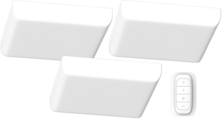 IMMAX NEO PRACTICO sada 3x Smart stropní svítidlo 18cm 24W bílé+dálkové ovládání Zigbee 3.0