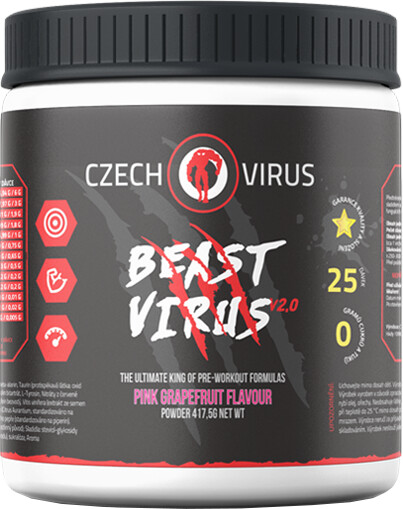 Doplněk stravy Beast Virus V2 - Růžový grep, 395g