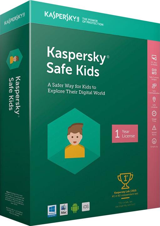 Kaspersky Safe Kids 2018 CZ pro 1 zařízení na 12 měsíců