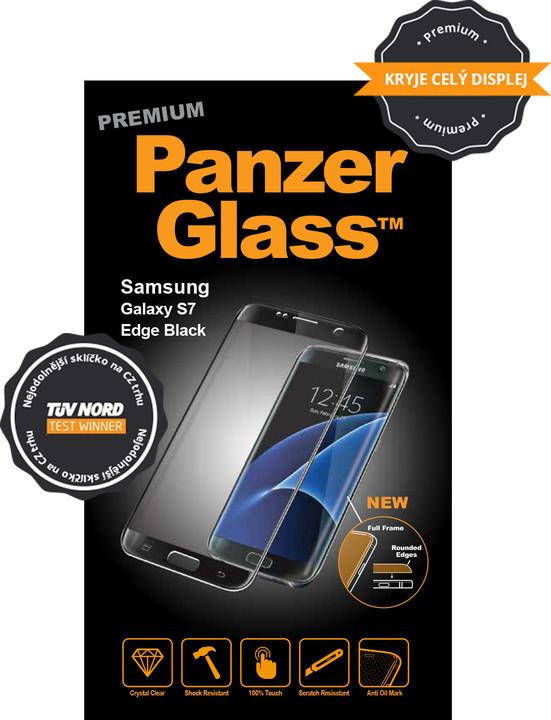 PanzerGlass ochranné sklo na displej pro Samsung S7 edge Premium, černá