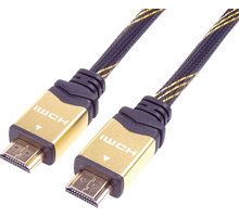 PremiumCord HDMI 2.0 High Speed + Ethernet kabel HQ, zlacené konektory, 0,5m