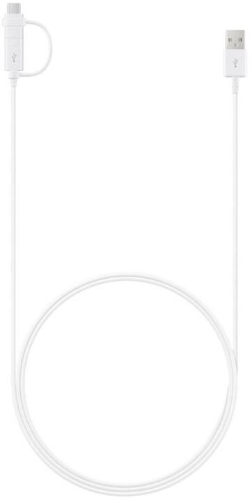 Samsung datový kabel 2v1, USB A - micro USB / USB C