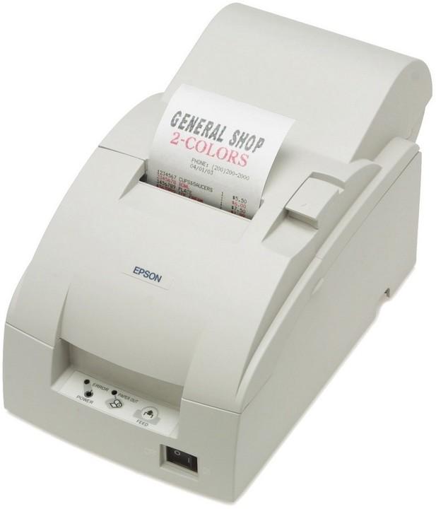 Epson TM-U220PA-007, pokladní tiskárna, se zdrojem, bílá