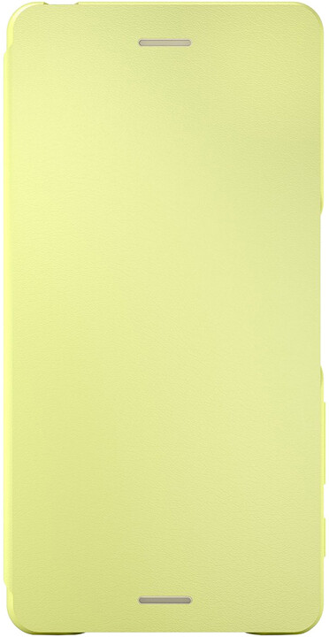 Sony SCR52 Style Cover Flip Xperia X, limetková/zlatá