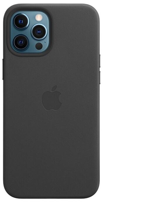 Apple kožený kryt s MagSafe pro iPhone 12 Pro Max, černá