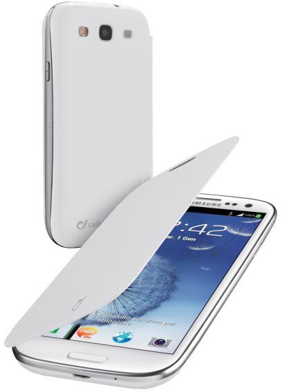CellularLine Backbook pouzdro pro Samsung Galaxy S3, bílá
