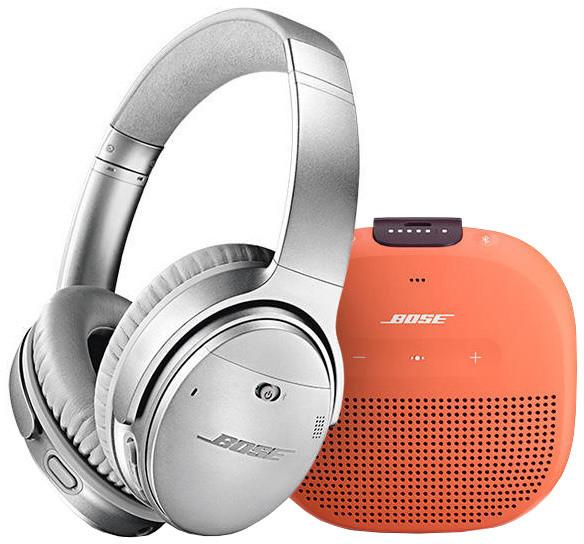 Bose QuietComfort 35 II, stříbrná + Bose SL Micro, oranžová