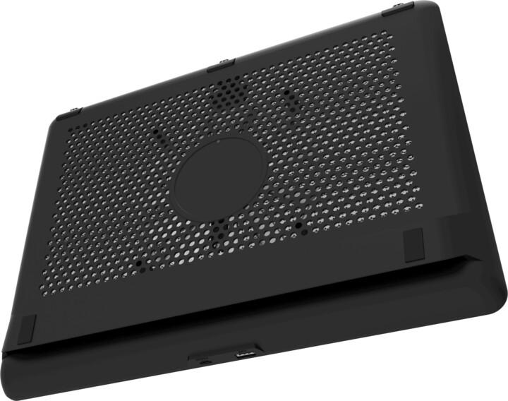 """Cooler Master chladící podstavec NotePal L2 pro notebook 17"""", 1xUSB, modré LED, černá"""
