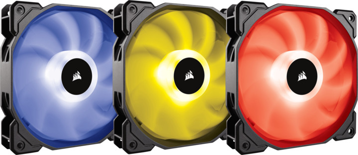 Corsair Air SP120 RGB LED High, 120mm, with Controller, 3ks