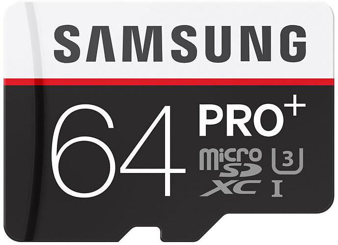 Samsung Micro SDXC PRO+ 64GB UHS-I U3 + SD adaptér
