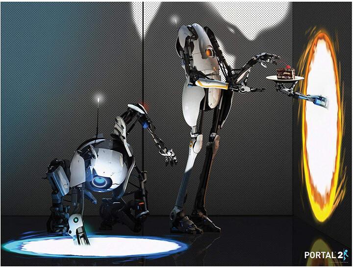 Plakát Portal 2 - Atlas and P-Body