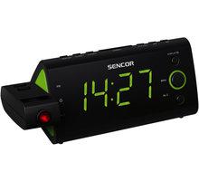 Sencor SRC 330 GN, radiobudík s projekcí  + Nakupte alespoň za 2 000 Kč a získejte 100Kč slevový kód na LEGO (kombinovatelný, max. 1ks/objednávku)