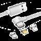 Mobilly 3v1 lomený magnetický kabel