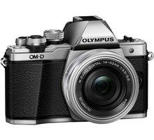 Olympus E-M10 Mark II + 14-42mm, stříbrná/stříbrná V207051SE000