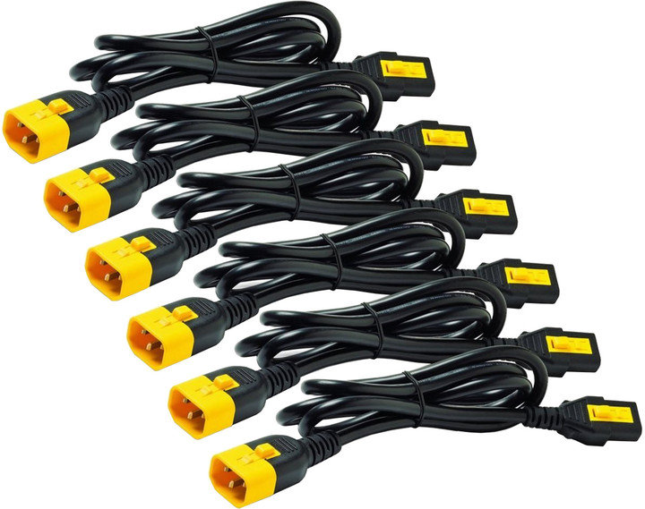 APC Power Cord Kit (6 ea), Locking, C13 to C14, 1.8m