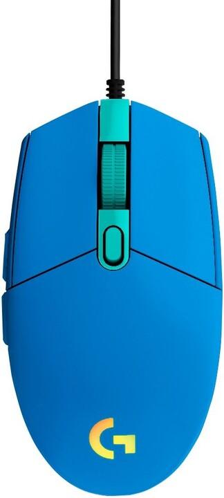 Logitech G102 Lightsync, modrá
