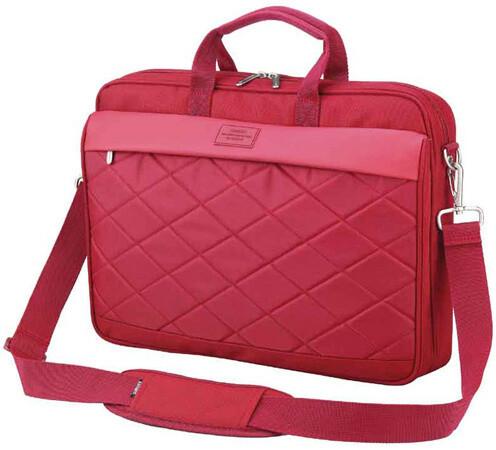 SUMDEX brašna na notebook PON-327RD, červená