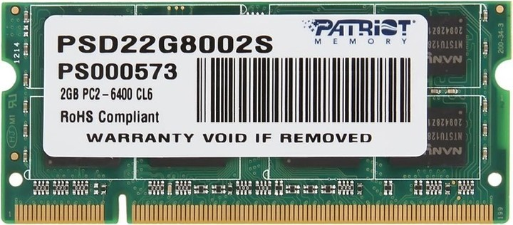 Patriot Signature Line 2GB DDR2 800 SO-DIMM
