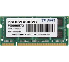 Patriot Signature Line 2GB DDR2 800 CL6 SO-DIMM CL 6 - PSD22G8002S