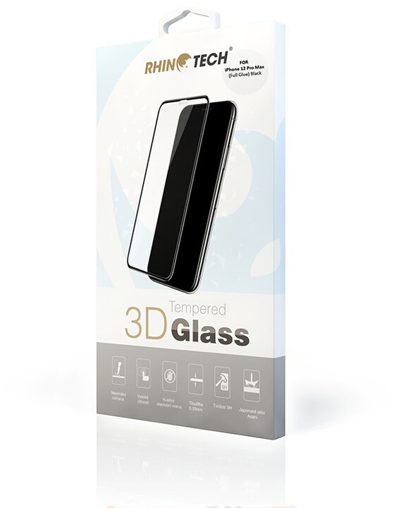 RhinoTech 2 Tvrzené ochranné 3D sklo pro Apple iPhone 12 Pro Max